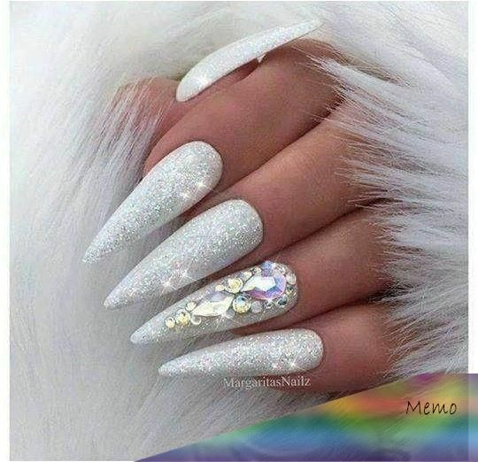 Pin by Nocte on Nail vibes | Stiletto nails glitter
