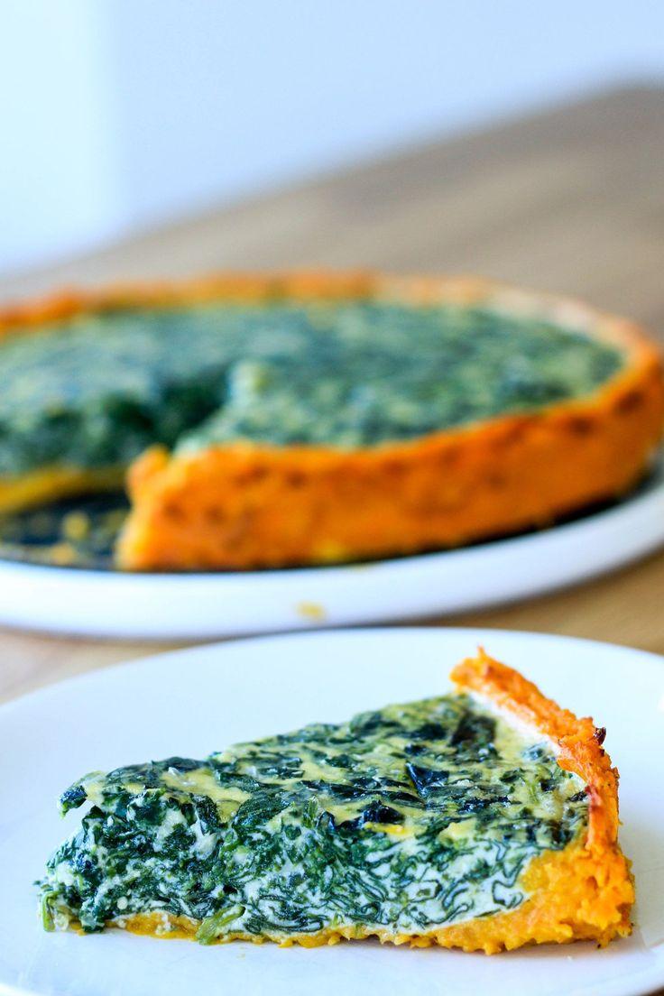 Receta prestada: tarta de espinaca con base de calabaza, sin harinas y lista en menos de una hora. La opción ideal para una cena liviana.