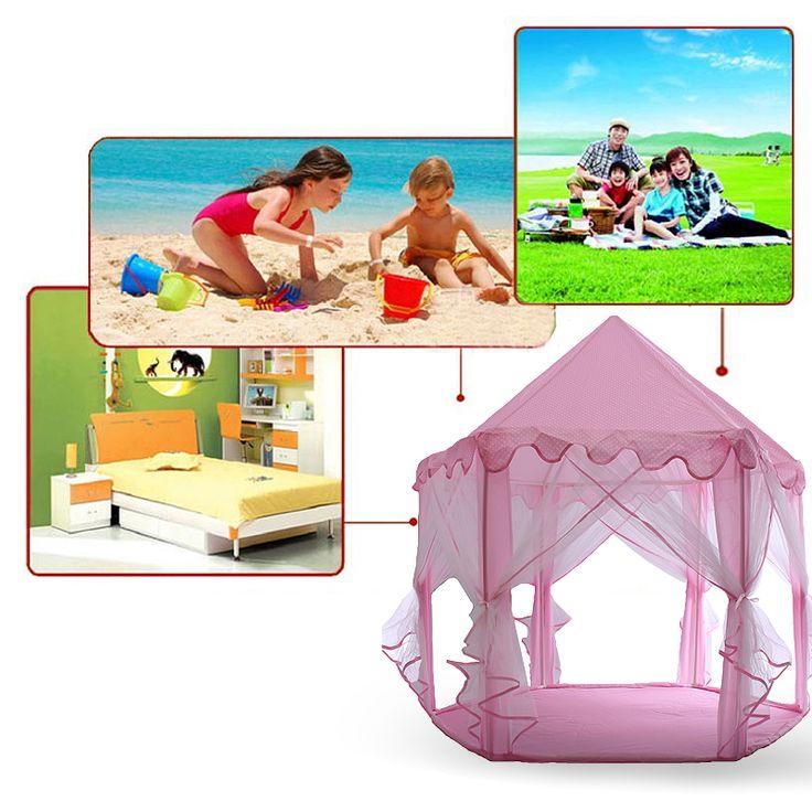Portable Princess Children Toy Tent Ocean Ball Pool Baby Kids Indoor Outdoor Shelter