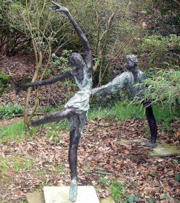 outdoor garden statues. Bronze Resin Garden Or Yard / Outside And Outdoor Sculpture By Artist Sue Riley Titled: \u0027female Dancer (Semi Abstract Ballerina Statue)\u0027 Statues O