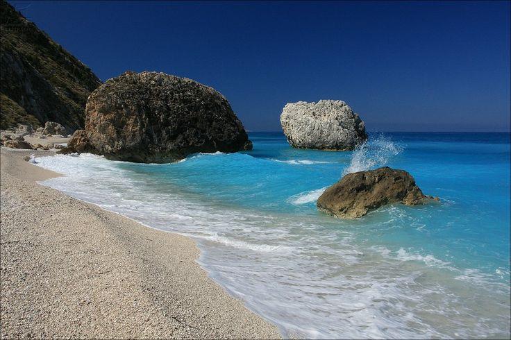 Megali Petra beach - Lefkada island - Ionian islands - Greece