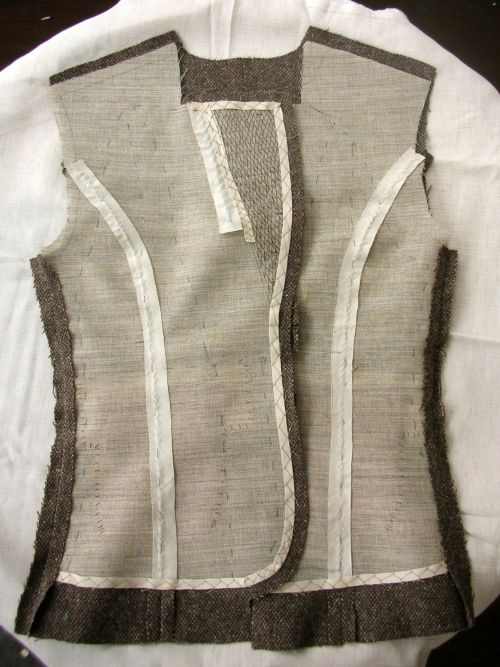 tailored jacket in progress- the internal structure