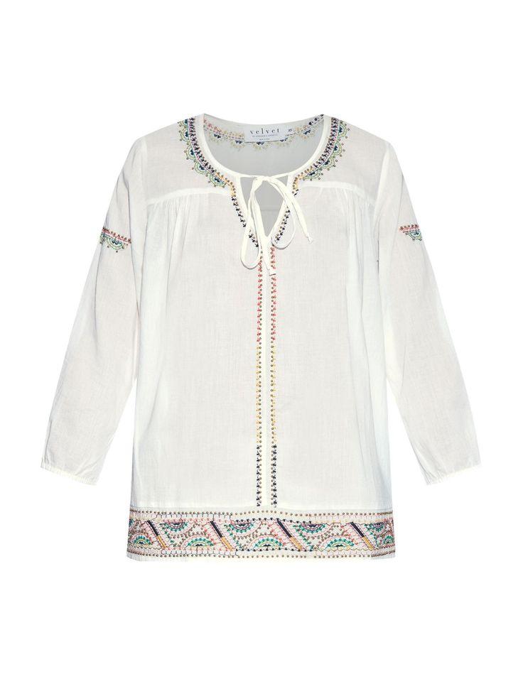 Dalene вышитые хлопка блузка | бархат Грэм и Спенсер | MATCHESFASHION.COM
