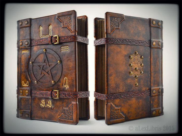 Book Of Shadows By Alexlibris999 Handmade Leather Bound