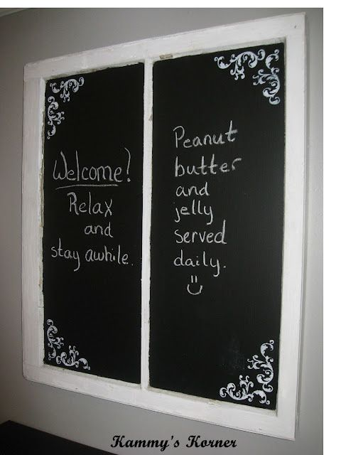Chalkboard from old window idea only