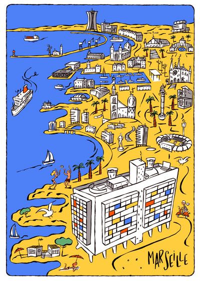 philippe Doro • illustrations : Marseille. Le Corbusier. Cité radieuse.