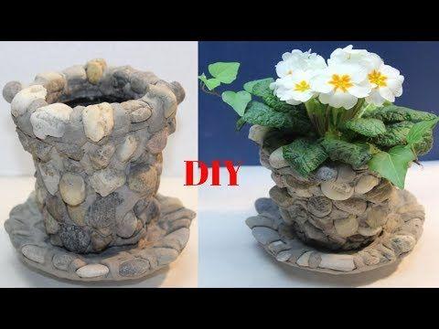Diy Steinblumentopf Ganz Leicht Selber Zu Machendiy Stone