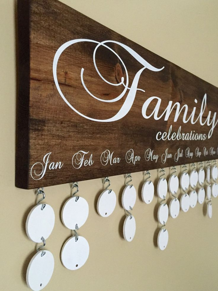 Handmade Family Birthday Board - Family Celebrations Board - Family Birthday Calendar - Celebration Board - Wall Hanging by InfiniteDesigns4u on Etsy https://www.etsy.com/listing/270149809/handmade-family-birthday-board-family