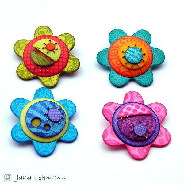 Flower Pins by Jana Lehmann| Flickr - Photo Sharing!