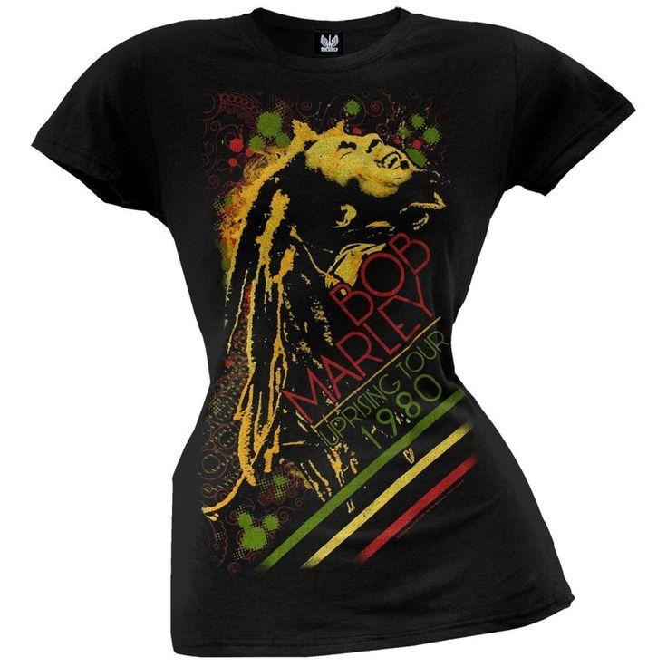 Bob Marley - Uprising Tour 1980 Juniors T-Shirt