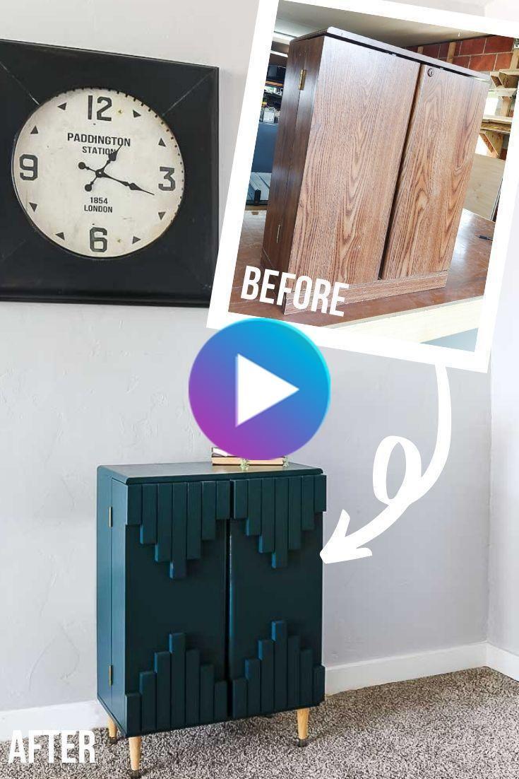 3 Stratifie Cabinet Transforme En Vert Boho Style Cabinet In 2020 Dark Green Boho Laminate Cabinets Cabinet Styles