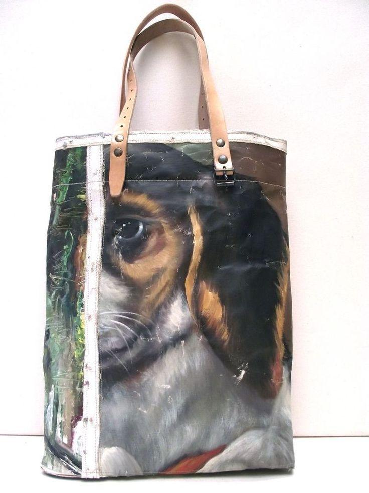 Painting Bag - Beagle / Swarm by Leslie Oschmann