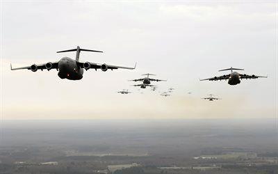 壁紙をダウンロードする c17, ダネルダグラス, 軍用機, ボーイング, globemaster3