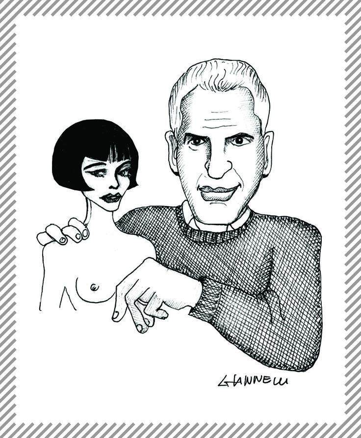 """Guido Crepax, 1933 - 2003. Illustratore e autore di fumetti, definito da Wolinski """"un vero viaggiatore immobile, che se poteva non abbandonava Milano, quasi nemmeno il suo studio. #AlbumMilano #GuidoCrepax #Valentina"""