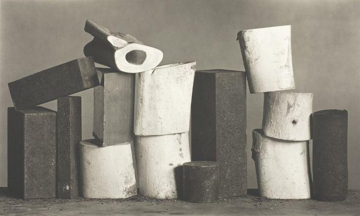 Irving Penn, Seven Metal, Seven Bone, New York. Feb 1980. 12x20 banquet camera/platinum-palladium contact print.