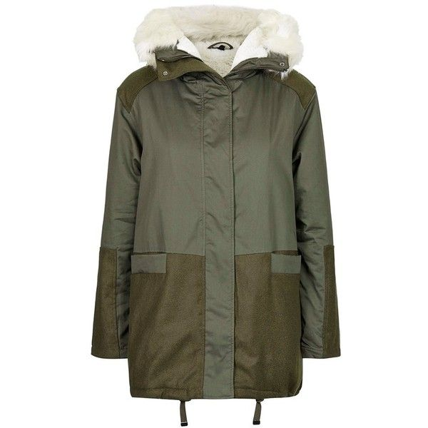 Women's Topshop 'Toddy' Faux Fur Parka found on Polyvore