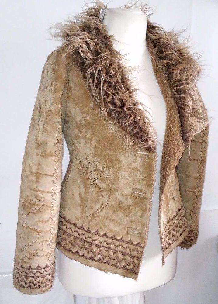 RESERVED sheepskin faux suede  Coat Jacket S #RESERVED #SheepskinCoat