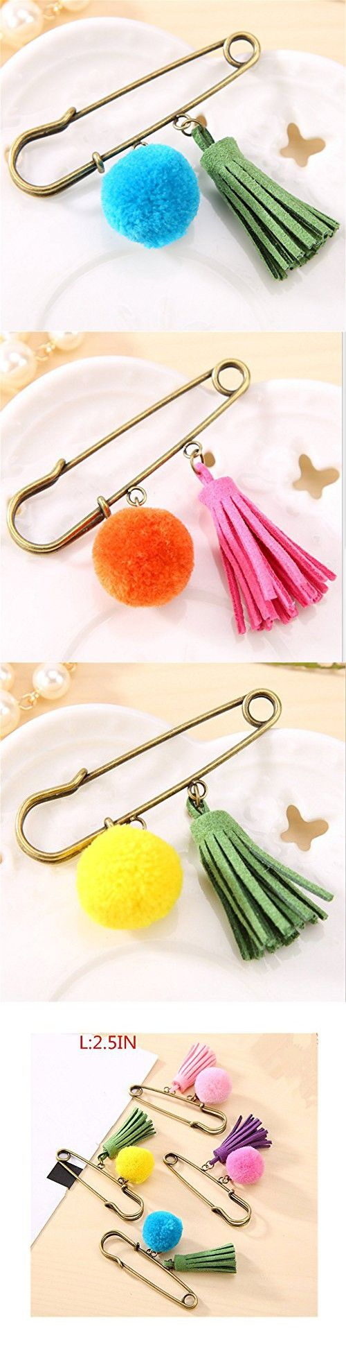 25 unique large safety pins ideas on pinterest post apocalyptic lilith li sweet wool ball temperament tassels large safety pin 4pcs setymq amipublicfo Gallery