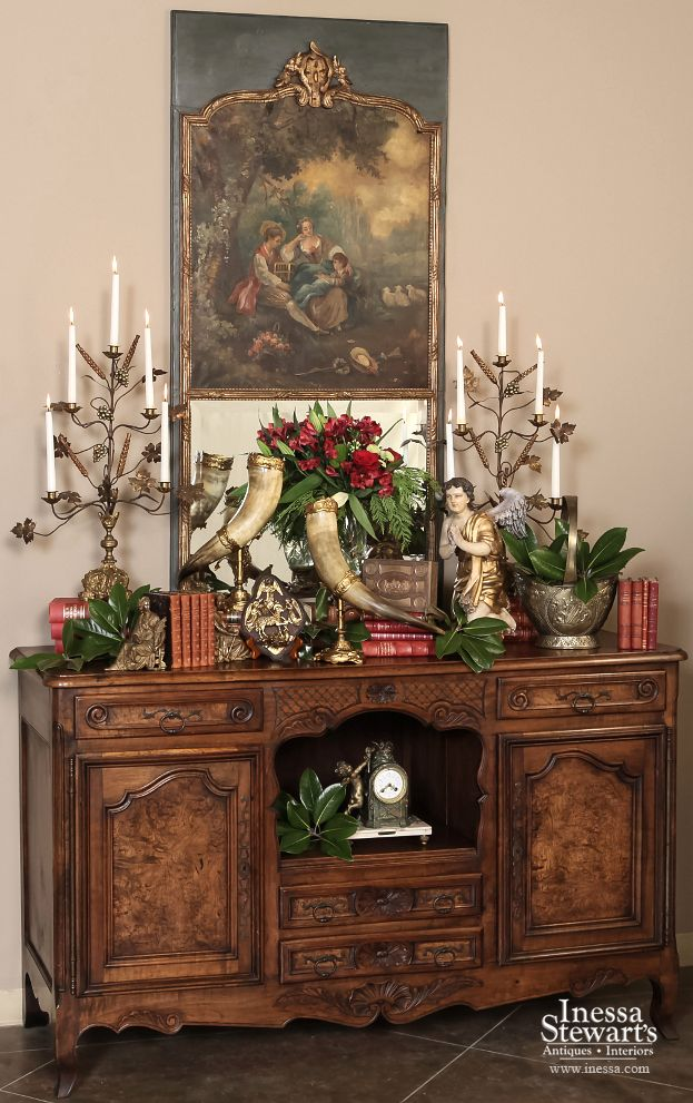 Elegant Christmas vignette - Inessa Stewart's Antiques - 81 Best Antique French Furniture & Home Decor Images On Pinterest