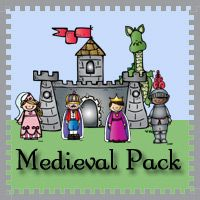 Free Medieval Pack with over 215 pages of activities for ages 2 to 8 from 3 Dinosaurs