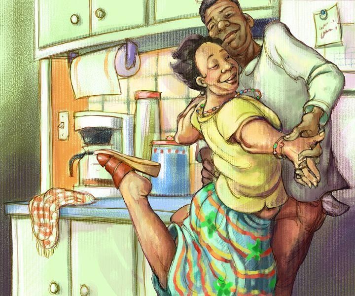 Kitchen Dance One of my favorite illustrators