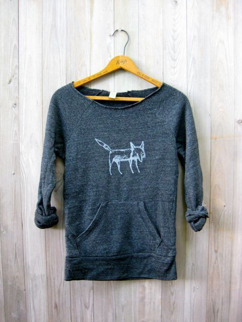 clever me Fox sweatshirt Fox Sweater Yoga by nicandthenewfie, $36.00