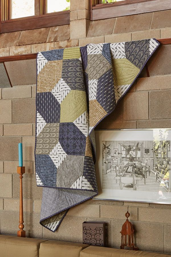 Like masculine quilt patterns and using pre-cut quilting fabrics? Perfect! New York State of Mind delivers on both counts. Get the quilt kit or the quilt pattern for this cool and easy-to-make quilt.