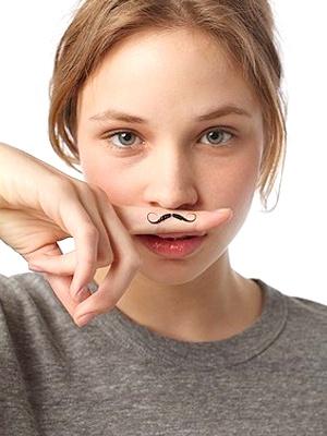 mustache tattoo