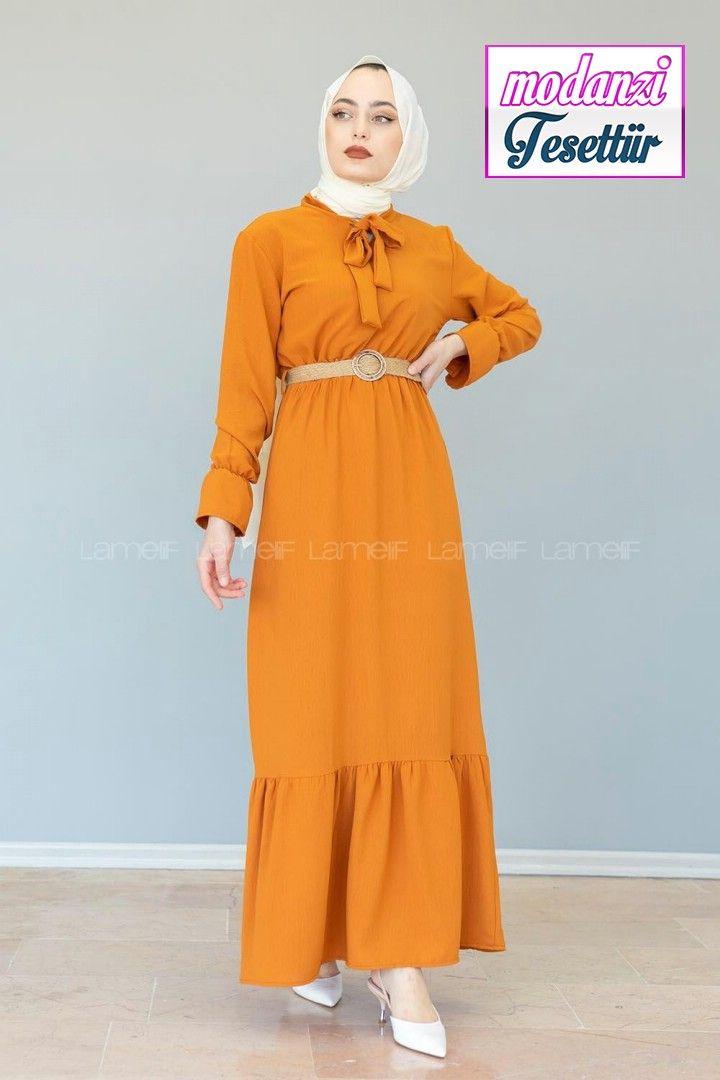 Lamelif Hasir Kemerli Ayrobin Elbise Kiremit Kirmizi Elbise Lamelif Elbise Modelleri 2020 2020 Elbise Elbise Modelleri Kirmizi