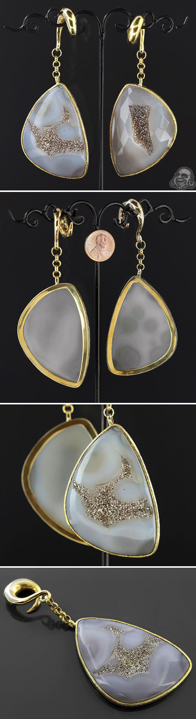 Jewelry amp watches gt fashion jewelry gt body jewelry gt body piercing - Solid Brass Druzy Weights