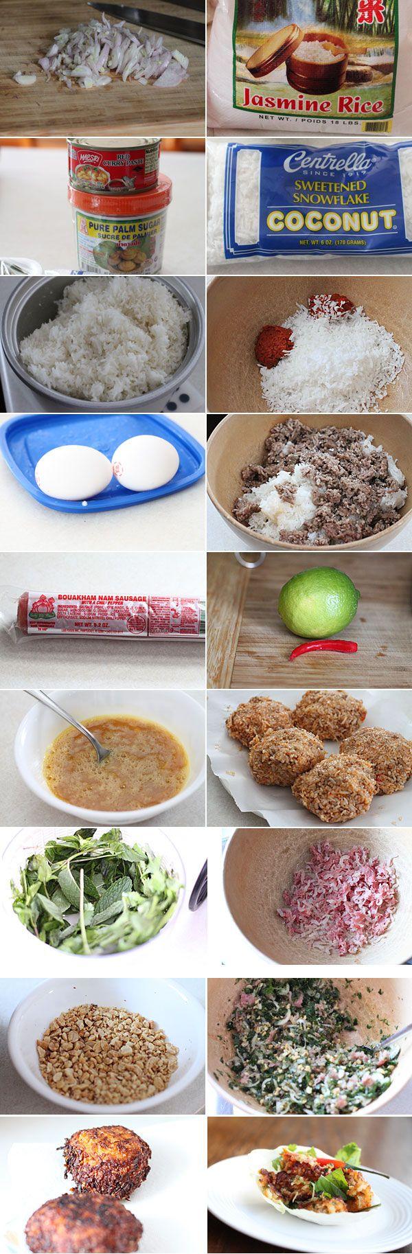 How to make nam khao