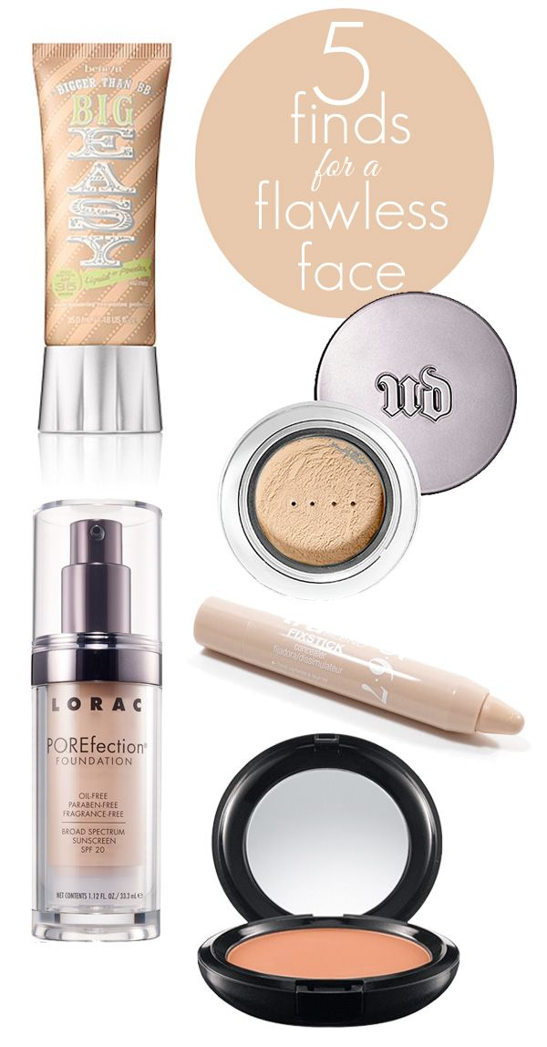 5 Finds for a Flawless Face: the best makeup, foundation, concealer and powder for a flawless look.