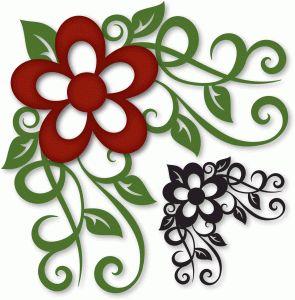 Silhouette Online Store - View Design #43012: flourished flower corner