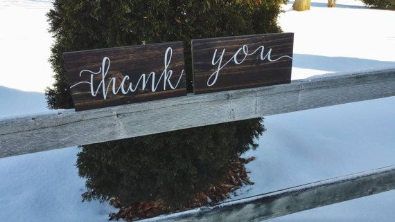 Check out this item in my Etsy shop https://www.etsy.com/ca/listing/510716767/wedding-thank-you-signs-calligraphy
