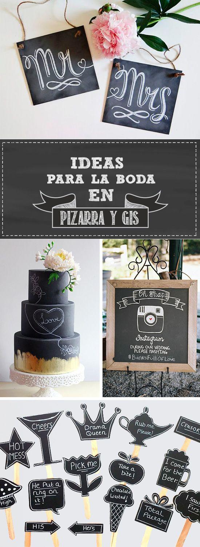 Ideas en Pizarra y Gis para la #Boda | El Blog de una Novia