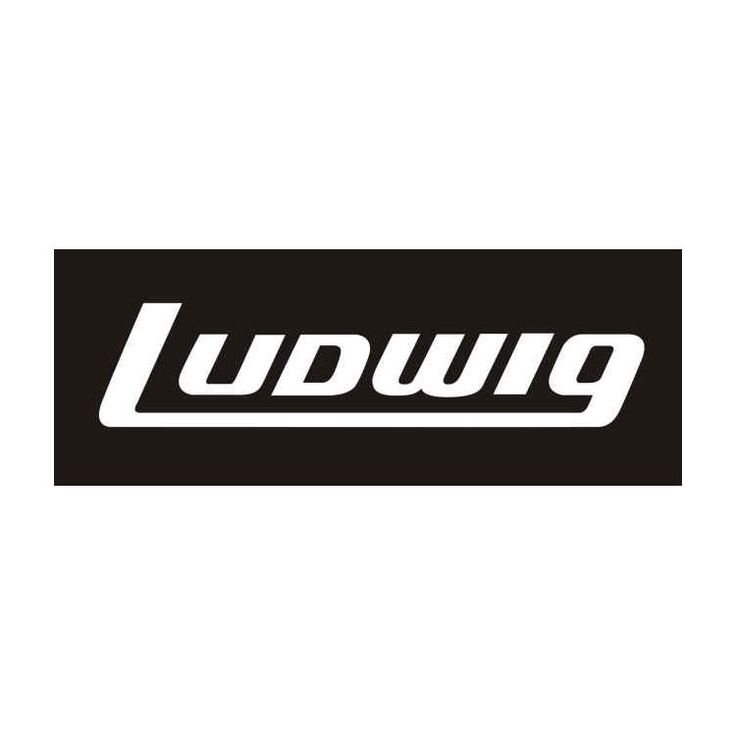 Ludwig White Bass Drum Logo Sticker