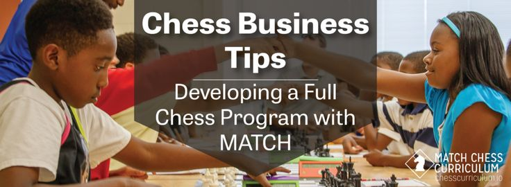 Creating a full chess program using the MATCH Chess Curriculum.