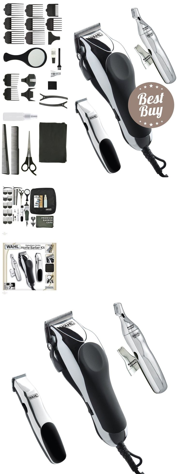 Shaving and Grooming Kits and Sets: Men Trimmer Barber Kit Machine Professional Haircutting Beard Shaver Clipper Set BUY IT NOW ONLY: $67.99