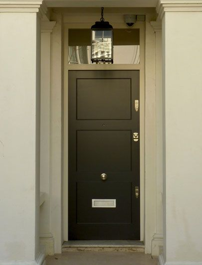 a contemporary door wooden door looks nice with this