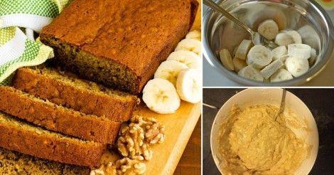 Fácil+budin+de+banana+saludable