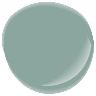 Halcyon Green SW6213 by Sherwin Williams.  My new favorite paint color!