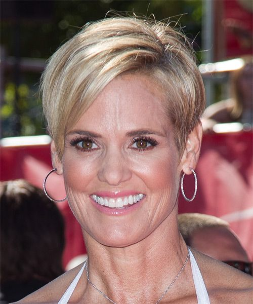 Dara Torres Hairstyle - Short Straight Formal. Click to try on this hairstyle and view hair info and styling steps!