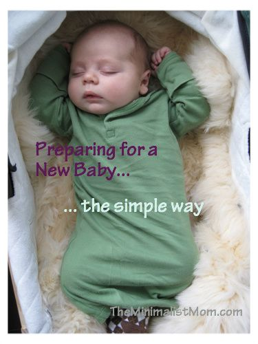 Minimalist mom blog- what you need for newborns