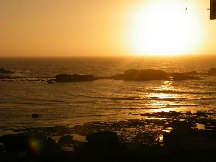 Sunset on the coast of Essaouira from the Medina walls <3