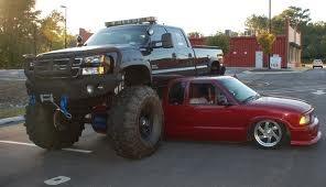 jacked up truck! haha!