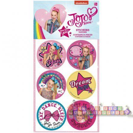 JoJo Siwa Pink Stickers (4 sheets)