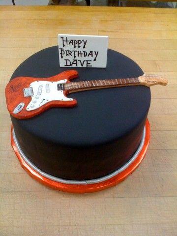 how to make a guitar cake topper