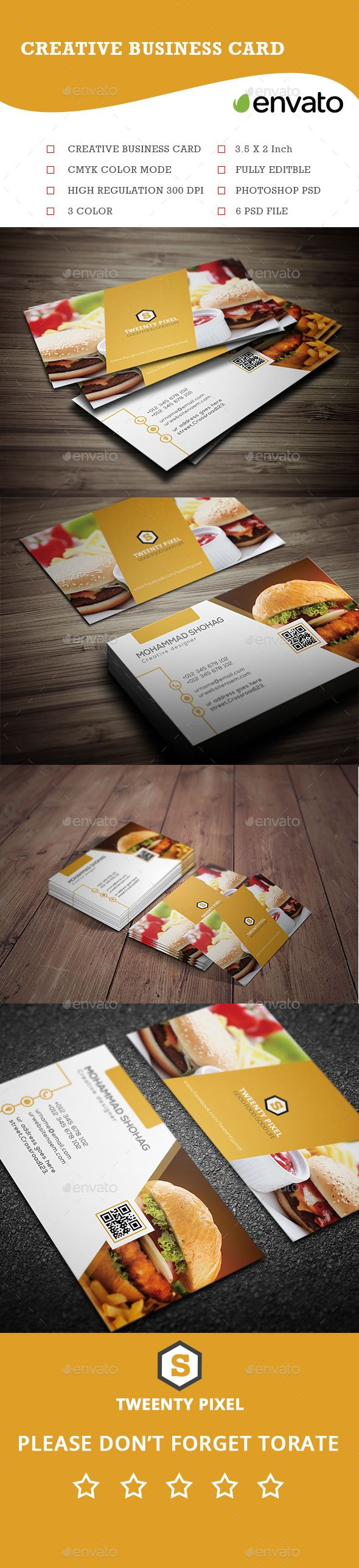 Simple Restaurant Business Card Template PSD #design Download: http://graphicriver.net/item/simple-restaurant-business-card-/14107998?ref=ksioks