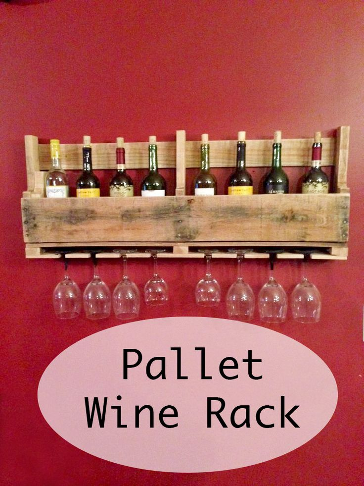 A simple wine rack made from the