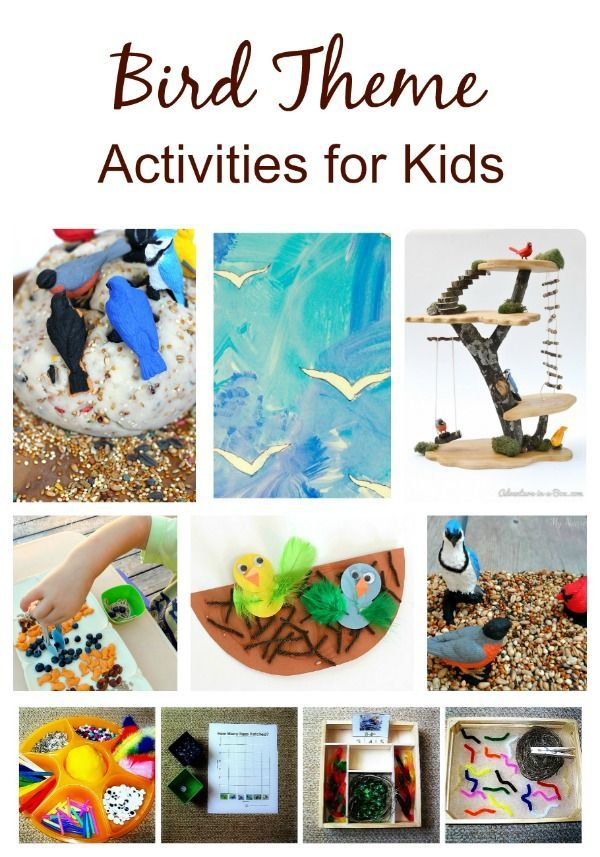 323 best images about bird theme activities for kids on for Educational crafts for toddlers